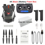 SG906 Drone 4k Brushless Motor 800 Meters Tap Flight Fixed Point Surround GPS Image Follow Me Adjustable Angle Camera Drone Gps