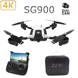 Foldable Rc Quadcopter Drone HD Camera 4K Dual cam Dron Remote control Toys Aircraft rc Video Helicopter control Kids Drone Toy