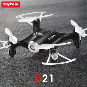 SYMA Official X21 Mini Drone RC Quacopter Helicopter Drones Dron Aircraft Headless Mode Hover Fixed High Function Toys For Boys