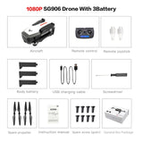 SG906 GPS 5G WIFI FPV RC Drone 4K Brushless Selfie Drones with Camera HD RC Quadcopter Foldable Dron VS Visuo XS816 F11 Drone