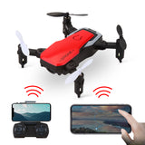XGODY GW10 RC Quadcopter With HD Camera 2.4G WIFI FPV Mini Foldable Camera Drone 3D Flips and Rolls Speed Switch APP Airplane