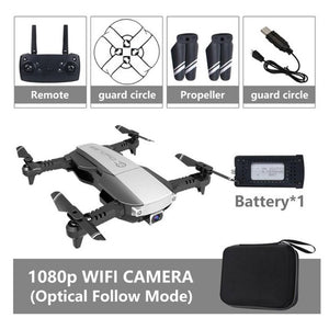4K Drone 2.4G WiFi FPV Folding Quadcopter RC Dron Fixed Height Mode Optical Flow positioning Drone with bag gift VS DJI MAVI