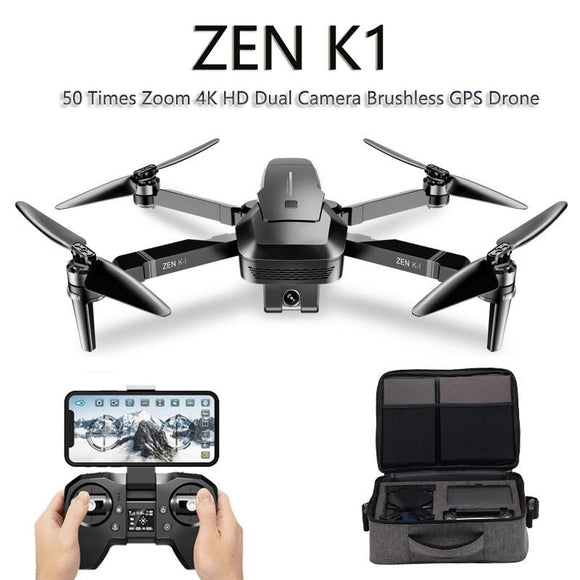 VISUO ZEN K1 GPS RC Drone with 4K Wide-Angle HD Dual Camera 5G WiFi FPV Brushless Drones Quadcopter 50 Times Zoom 28 Mins VS F11