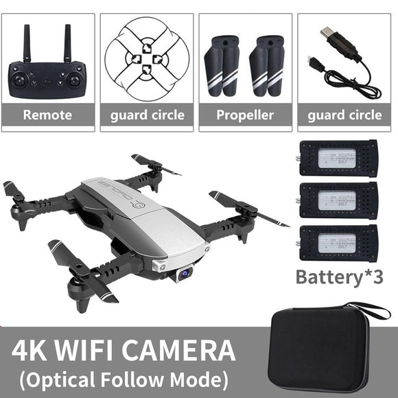 LANSENXI-NVO RC Drone 4K 1080P Quadcopter 2.4GHz WiFi FPV Foldable mini drones Real-time Transmission camera dron Quadcopter