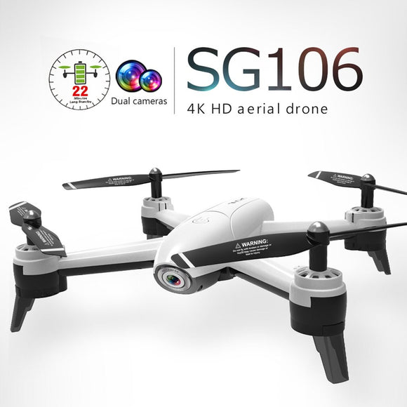 SG106 RC Drone 4K 1080P 720P Dual Camera FPV WiFi Optical Flow Real Time Aerial Video RC Quadcopter Aircraft Dron HD Camera