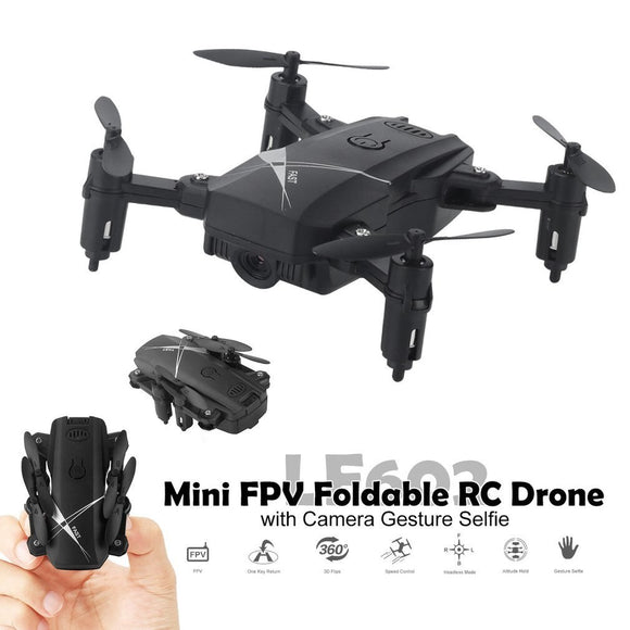 LF602 2.4G wifi FPV Mini Foldable RC Drone 2.0MP/0.3MP camera Drone Headless  Quadcopter pictures videos real time transmission