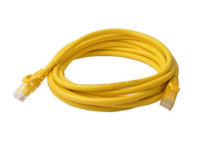 8Ware Cat6a UTP Ethernet Cable 3m Snagless Yellow
