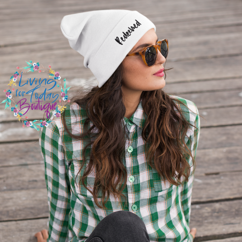 Redeemed Cuffed Beanie - Living for Today Boutique
