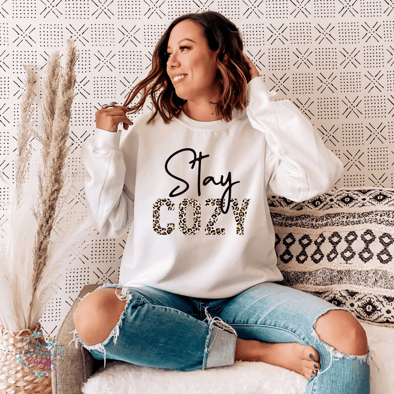 Stay Cozy Leopard Sweatshirt