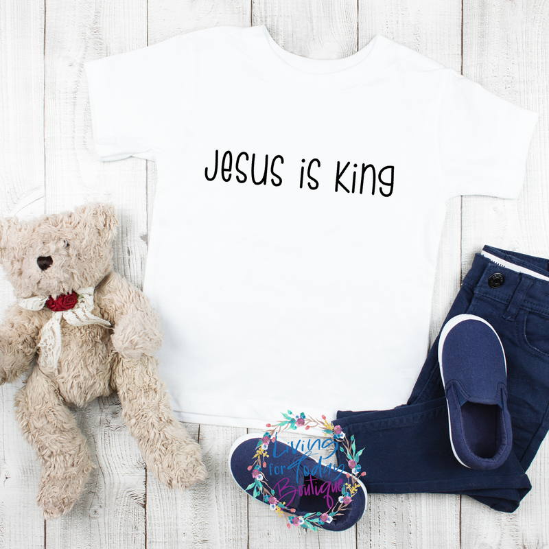 Jesus Is King Youth T-Shirt - Living for Today Boutique