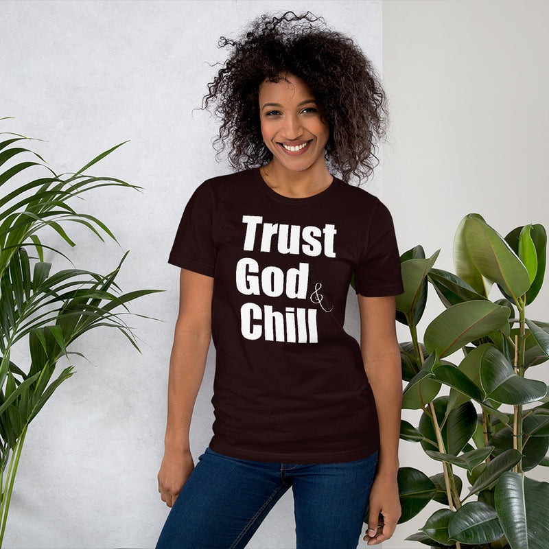 Trust God & Chill T-Shirt - Living for Today Boutique