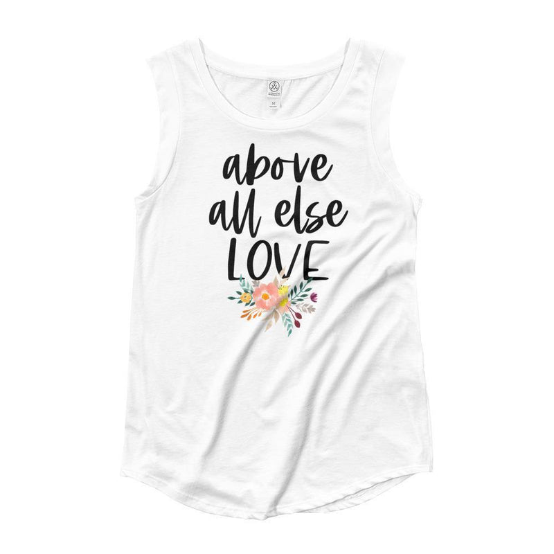 Above All Else Love Tank Top - Living for Today Boutique