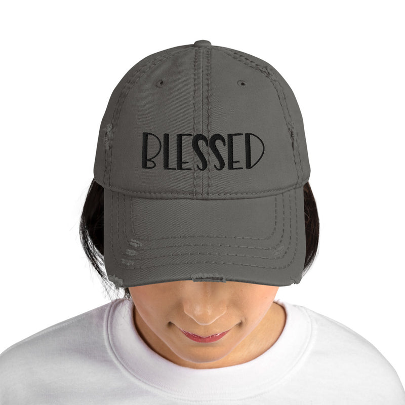 Blessed Distressed Dad Hat - Living for Today Boutique