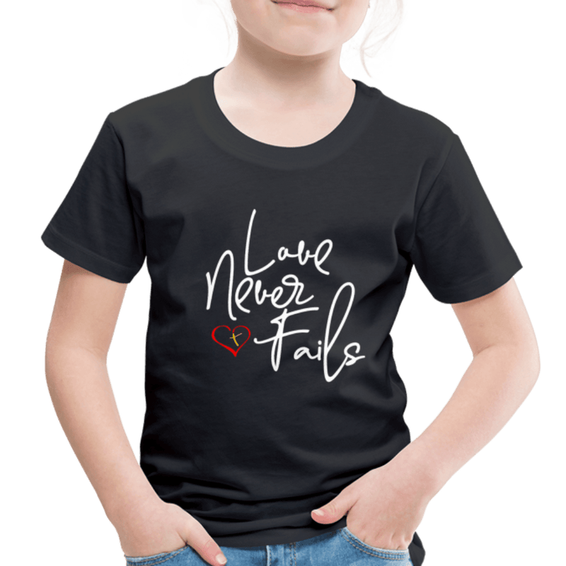 Love Never Fails Toddler Premium Shirt - black