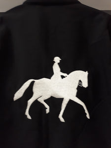 Personalised equestrian Jacket (Adults): with showjumper or dressage image