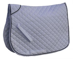 Rhinegold quilted saddlecloth with piped edge, personalised saddlecloth
