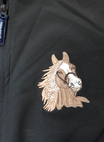 Personalised equestrian shell jacket