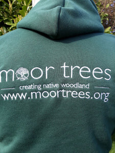 Men's hoodie with Moor Trees embroidered logo