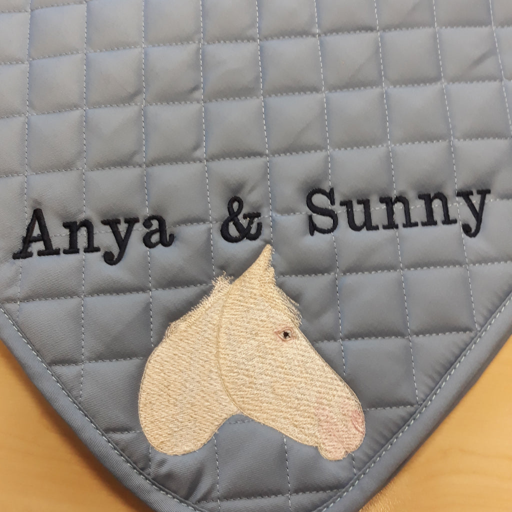 Horse photo embroidery, personalised saddlecloth