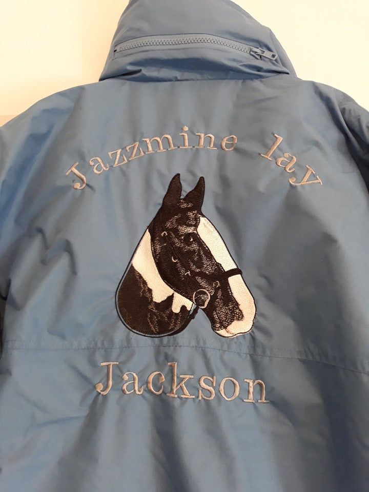 Personalised Bronte Jacket, personalised blouson, personalised equestrian waer, personalised riding jacket, bespoke riding jacket
