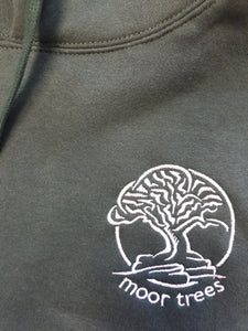 Ladies hoodie with Moor Trees embroidered logo