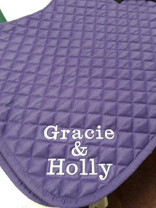 Personalised  Saddlecloth, Rhinegold saddlecloth