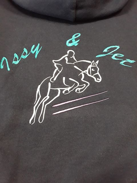 Personalised equestrian hoodie, personalised horse hoodie, personalised saddlecloths, personalised equestrian wear