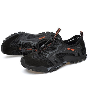 Summer Breathable Men Hiking Shoes Suede + Mesh Outdoor