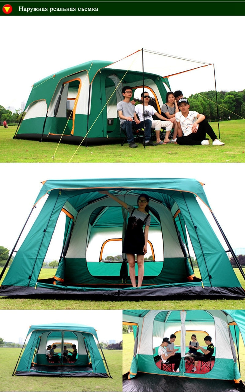 The camel outdoor New big space camping outing two bedroom tent