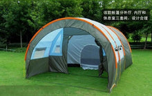Load image into Gallery viewer, 5-10 person big doule layer tunnel tent outdoor camping family party hiking fishing tourist tent house