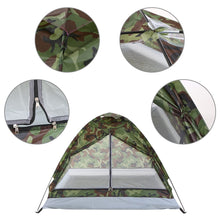 Load image into Gallery viewer, TOMSHOO 2 Persons Waterproof  Camping Tent PU1000mm Polyester Fabric Single Layer Tent for Outdoor Travel Hiking 200*130*110cm