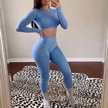 Load image into Gallery viewer, 2020 Women Seamless clothing Longsleeve and Leggings