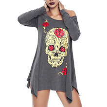 Load image into Gallery viewer, Outdoor Hiking Shirts Women Shirts Halloween Skull Printed