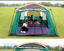 Load image into Gallery viewer, Tent 8-12 Person outdoor New big space camping outing two bedroom tent ultra-large hight quality waterproof camping tent