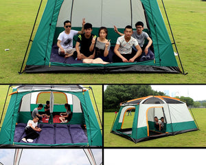 Tent 8-12 Person outdoor New big space camping outing two bedroom tent ultra-large hight quality waterproof camping tent