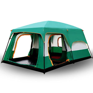 camping tent Two story outdoor 2 living rooms and 1 hall high quality family camping tent large space tent 8/10 Outdoor camping