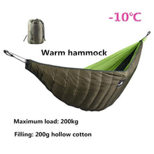 Load image into Gallery viewer, Winter Warm Sleeping Bag Hammock Underquilt Emergency Sleeping Bag Warmer Under Quilt Blanket for Outdoor Backpacking Camping