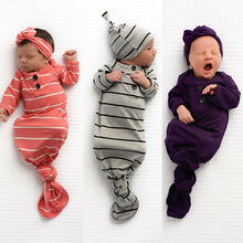 Load image into Gallery viewer, Newborn Baby Sleeping Bag Sacks Blanket Swaddle Wrap Bedding Clothes Hat Outfits
