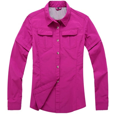 2020 New Women Summer Removable Fishing Shirt
