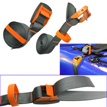 Load image into Gallery viewer, 1/2PC 4M Kayak Tie Down Lashing Strap Surfboard Cargo Car Trailer boat Luggage Canoe Ratchet Belt Strap quick release cam buckle