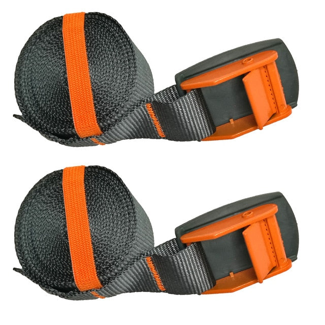 1/2PC 4M Kayak Tie Down Lashing Strap Surfboard Cargo Car Trailer boat Luggage Canoe Ratchet Belt Strap quick release cam buckle