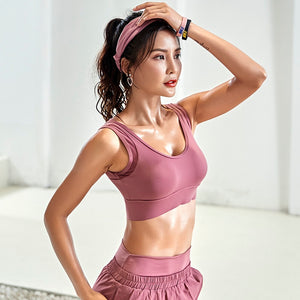 women sports bra Bra Running Yoga Brassiere Workout Gym Fitness High Impact shockproof for dancing training Vest Tank