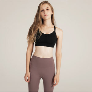 Fitness Sports Bra for Womens Cross Back Yoga Running Gym Training