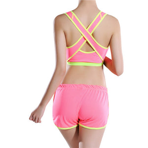 Padded Yoga sports Bras Stretch Tank Tops
