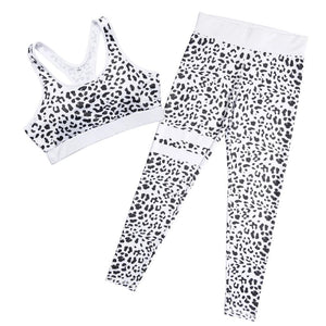 2 Piece Womens  Workout Sports Bra and Leggings Set
