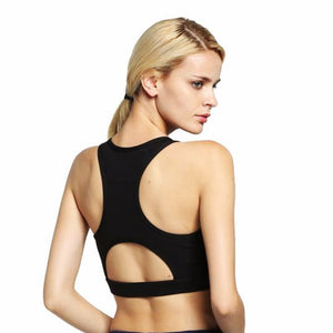 Women Sports Bra With Phone Pocket Print Yoga Top Fitness Running