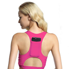 Load image into Gallery viewer, Women Sports Bra With Phone Pocket Print Yoga Top Fitness Running