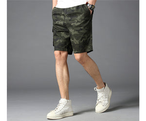 Cotton Camouflage Shorts Men