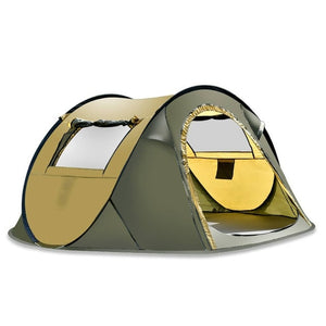 5-8 Person Waterproof Camping Tent Automatic Pop Up Quick Shelter Outdoor Traveling Hiking Tent-Coffee/Green