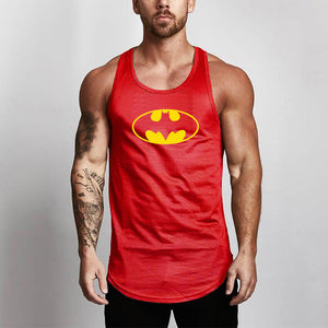 Batman Bodybuilding Clothing Mesh Tank Tops